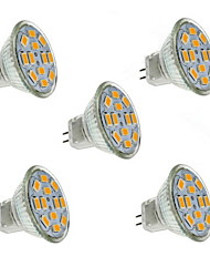 cheap -1.5 W LED Spotlight 130-150 lm GU4 MR11 12 LED Beads SMD 5730 Decorative Warm White 12 V / 5 pcs / RoHS