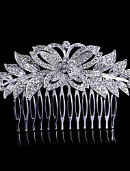 cheap -Side Combs Hair Accessories Crystal / Alloy Wigs Accessories Women's 1pcs pcs 1-4inch cm Party Crystal / Boutique Cute