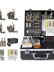 cheap -BaseKey Professional Tattoo Kit Tattoo Machine - 4 pcs Tattoo Machines, Professional Alloy 20 W LCD power supply 4 alloy machine liner & shader / Case Included