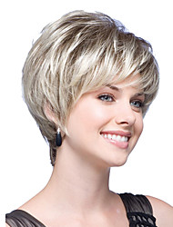 cheap -Synthetic Wig Straight Straight Bob With Bangs Wig Blonde Short Blonde Synthetic Hair Women's Blonde