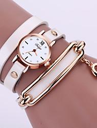 cheap -Women's Bracelet Watch Quartz Black / White / Blue Casual Watch Analog Ladies Sparkle Fashion - Green Blue Light Blue