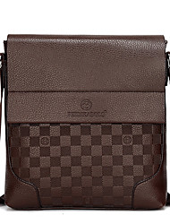 cheap -Men's PU Crossbody Bag Solid Colored Black / Brown / Khaki / Messenger