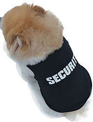 abordables -Chat Chien Tee-shirt Vêtements pour Chien Noir Costume Coton Police / Militaire Cosplay Mariage Mode XS S M L XL XXL