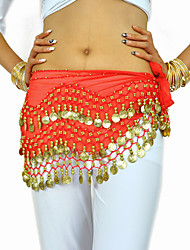 cheap -Belly Dance Belt Women's Training Chiffon Beading / Coin Hip Scarf / Performance