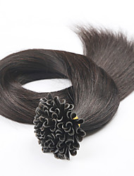 cheap -PANSY Fusion / U Tip Human Hair Extensions Straight Human Hair Brazilian Hair Natural Black