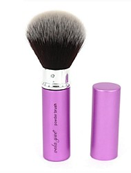 cheap -Professional Makeup Brushes Powder Brush 1 Portable Travel Professional Hypoallergenic Limits Bacteria Blending Premium flawless Synthetic Hair / Artificial Fibre Brush Metal for Cream Liquid Powders
