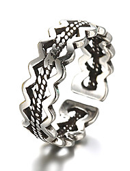 cheap -Unisex Band Ring Adjustable Ring thumb ring Silver Sterling Silver Silver Vintage Daily Casual Jewelry Knife Edge