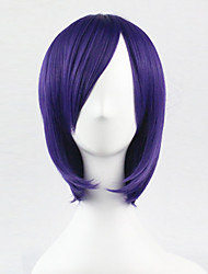 cheap -Cosplay Costume Wig Synthetic Wig Cosplay Wig Straight Straight Asymmetrical Wig Short Purple Synthetic Hair Women's Natural Hairline Purple