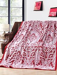 Недорогие -Фланель Цветочные / ботанический 100% полиэстер одеяла