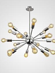 cheap -72cm(28.35inch) Mini Style Pendant Light Metal Sputnik Chrome Retro 110-120V / 220-240V