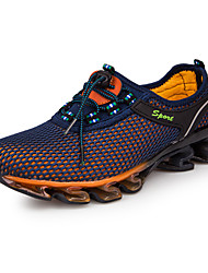 cheap -Men's Comfort Shoes Tulle Spring / Fall Athletic Shoes Running Shoes Royal Blue / Dark Blue / Lace-up / EU42
