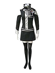 cheap -Inspired by D.Gray-man Lenalee Lee Anime Cosplay Costumes Japanese Cosplay Suits Patchwork Long Sleeve Dress / Badge For Women's