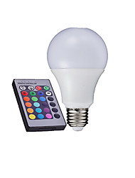 cheap -3 W 280-320 lm E26 / E27 LED Globe Bulbs A60(A19) LED Beads High Power LED Remote-Controlled RGB 85-265 V / 1 pc / RoHS / CCC