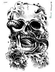 Недорогие -Временные татуировки Водонепроницаемый / 3D Лицо / руки / плечо ПВХ Временные тату