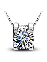 cheap -Women's Pendant Necklace - Sterling Silver, Silver Birthstones Silver Necklace For Daily, Casual