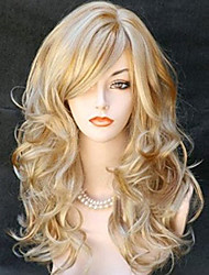 cheap -Synthetic Wig Wavy Wavy Wig Blonde Long Blonde Synthetic Hair Women's Blonde StrongBeauty