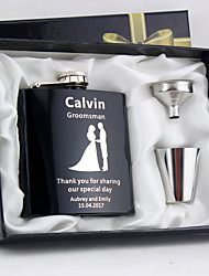 cheap -Stainless Steel Hip Flasks Bride / Groom / Bridesmaid Wedding / Anniversary / Birthday