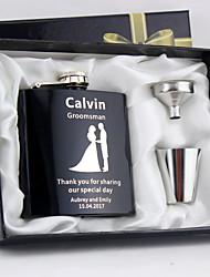 abordables -Acier inoxydable Flasque Mariée / Marié / Fille d'honneur Mariage / Anniversaire / Toutes nos félicitations
