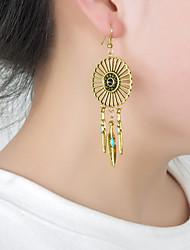 cheap -Women's Stud Earrings Feather Personalized Tassel European Folk Style Earrings Jewelry Silver / Bronze For Party Daily Casual