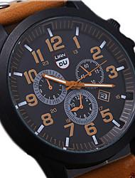 cheap -Men's Wrist Watch Aviation Watch field watch Quartz Leather Black / Brown / Green Water Resistant / Waterproof Calendar / date / day Cool Analog Aristo - Coffee Brown Green One Year Battery Life
