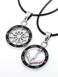 cheap -Men's Women's Pendant Necklace life Tree Best Friends Friendship scottish Titanium Steel Alloy Silver Necklace Jewelry For Party Daily Casual Sports