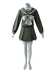 cheap -Inspired by Shakugan no Shana Shana Anime Cosplay Costumes Japanese Cosplay Suits / School Uniforms Patchwork Long Sleeve Top / Skirt / Ribbon For Women's