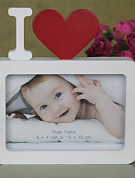 """cheap -I Love You Photo Frame Red Heart Shaped With One Picture 6x4"""" For New Baby And Sweet Lover Gifts"""