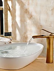 cheap -Bathroom Sink Faucet - Waterfall Brass Vessel Single Handle One HoleBath Taps