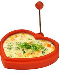 Недорогие -силиконовые жареные яйца в форме сердца кольцо омлет блин формы для приготовления завтрака кухонные инструменты