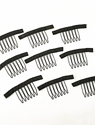 cheap -wig accessories hair wig combs and clips for wig cap black color 20 pcs lot lace wig making combs and clips for wig cap