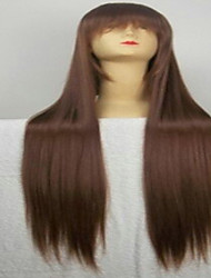 cheap -Synthetic Wig Straight Style Wig Brown Synthetic Hair Women's Brown Wig Very Long hairjoy