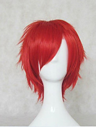 cheap -Synthetic Wig Cosplay Wig Curly Style Wig Red Blue Synthetic Hair Women's Wig Short hairjoy