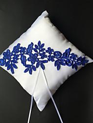cheap -Embroidery / Ribbons Satin Ring Pillow Beach Theme / Garden Theme / Asian Theme Spring / Summer / Fall