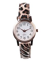 Недорогие -Жен. Наручные часы Кварцевый Горячая распродажа PU Группа Аналоговый Матовый черный Мода Разноцветный - полоса
