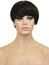 cheap -Synthetic Wig Straight Straight Pixie Cut Wig Short Synthetic Hair Women's African American Wig Black
