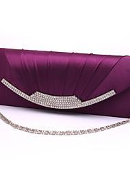 cheap -Women's Bags Satin Evening Bag Solid Colored Party Wedding Event / Party Evening Bag Wedding Bags Handbags Wine Almond White Black
