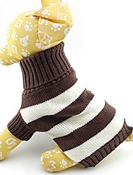 cheap -Cat Dog Sweater Winter Dog Clothes Costume Cotton Stripes Keep Warm Fashion XS S M