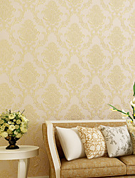 cheap -Wallpaper Non-woven Paper Wall Covering - Self adhesive Damask