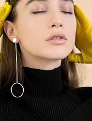cheap -Women's Stud Earrings Hoop Earrings Ladies Personalized European Fashion Earrings Jewelry Silver / Golden For Party Daily Casual