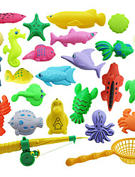 cheap -Outdoor Fun Sports Learning Education Fishing Gift For Child Baby Kids Bath Time Magnetic Fishing Toy Model
