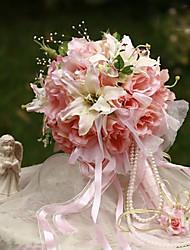 abordables -Fleurs de mariage Bouquets Mariage / Fête / Soirée Soie Env.35cm