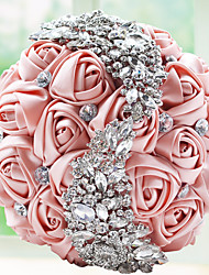 "cheap -Wedding Flowers Bouquets Wedding / Party / Evening Bead / Lace / Rhinestone 9.84""(Approx.25cm)"