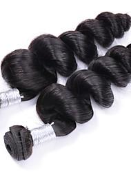 Недорогие -Бразильские волосы Волнистый Натуральные волосы 320 g Человека ткет Волосы Ткет человеческих волос Расширения человеческих волос / 8A