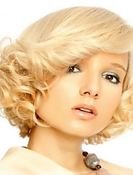 cheap -fashion synthetic wigs blonde color curly style synthetic wigs