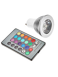 cheap -JIAWEN 3W GU10 E26E27 LED Spotlight leds RGB Remote-Controlled RGB AC 85-265V