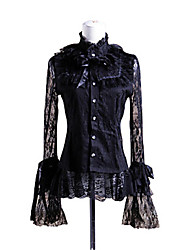 cheap -Princess Punk Blouse / Shirt Women's Girls' Lace Cotton Japanese Cosplay Costumes Solid Colored Poet Sleeve Long Sleeve Lolita