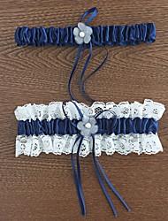 Недорогие -Полиэстер Классика Свадебный подвязка С Кружева / Цветы Подвязки