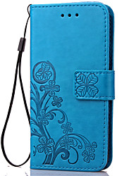 cheap -Case For Samsung Galaxy S5 Mini / S4 Mini / S3 Mini Wallet / Card Holder / with Stand Full Body Cases Flower Soft PU Leather