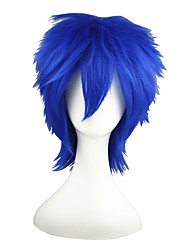 cheap -Vocaloid Kaito Cosplay Wigs Men's Women's 14 inch Heat Resistant Fiber Ink Blue Anime