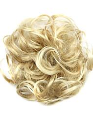 Недорогие -Парики из искусственных волос Шиньоны Кудрявый Классика Классика Кудрявый Стрижка каскад Парик Короткие Отбеливатель Blonde Искусственные волосы Жен. Updo